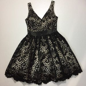 B Darlin Black dress 3/4  sleeveless vintage style
